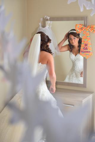 klaar maken bruid