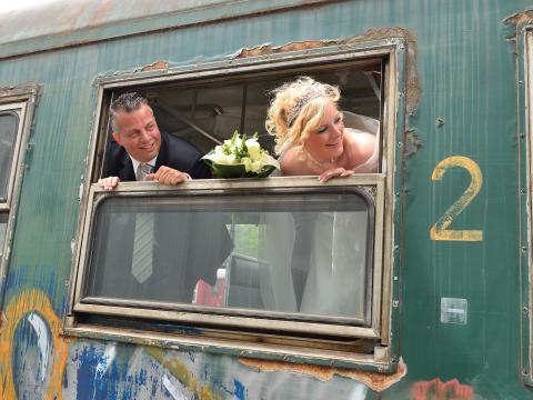 retro huwelijk