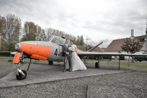 huwelijk vliegtuig