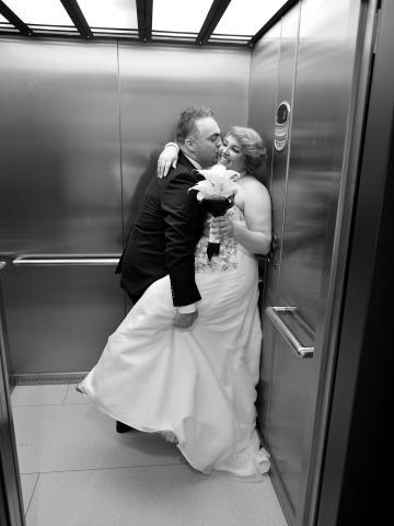 lift bruidspaar